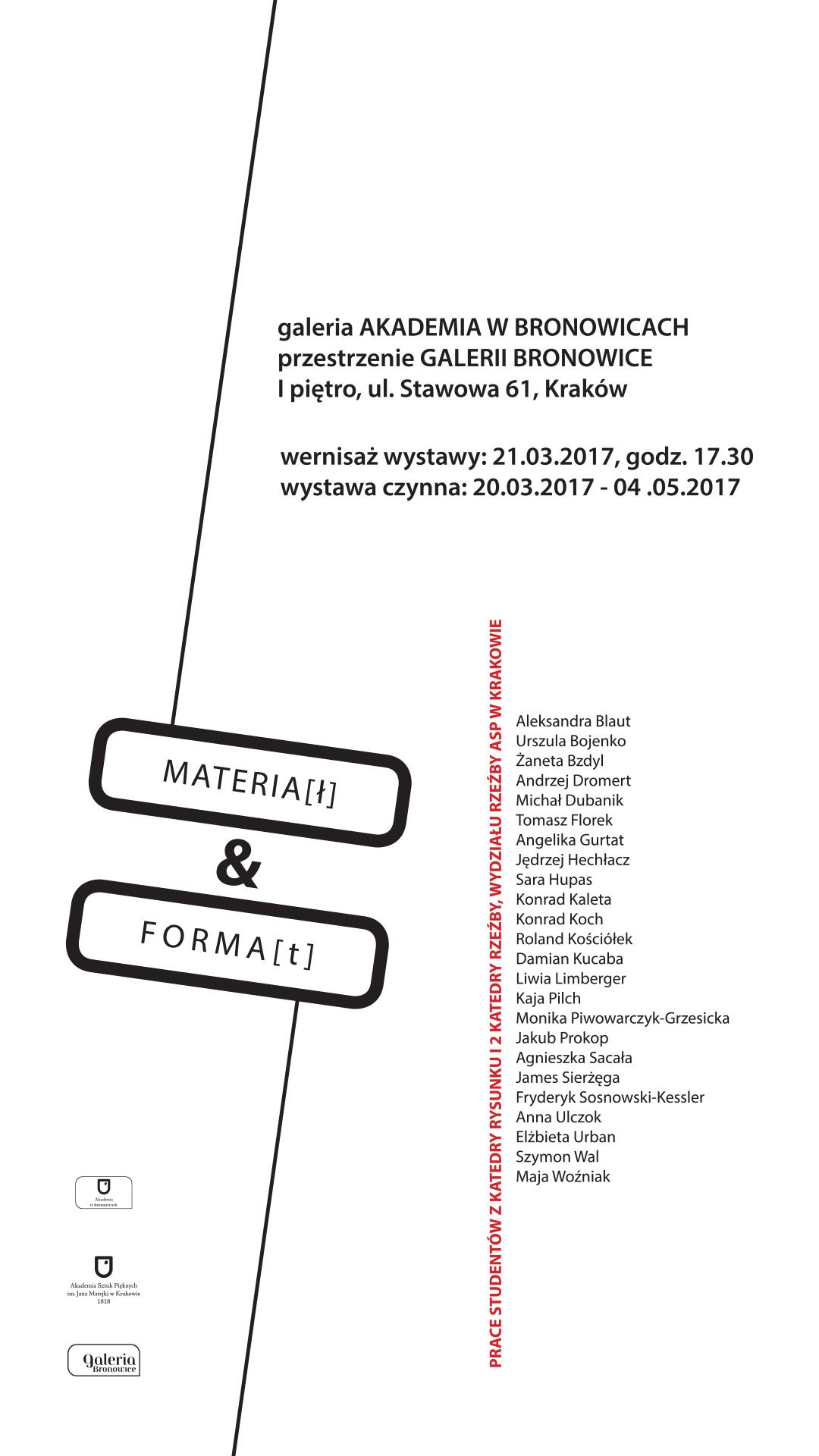 Plakat Materia_Forma